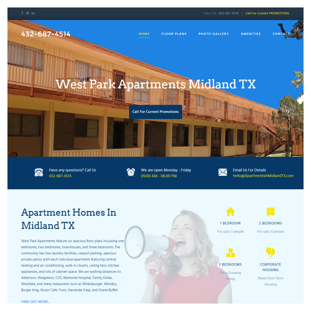 Web Design Plano -Apartments In Midland TX