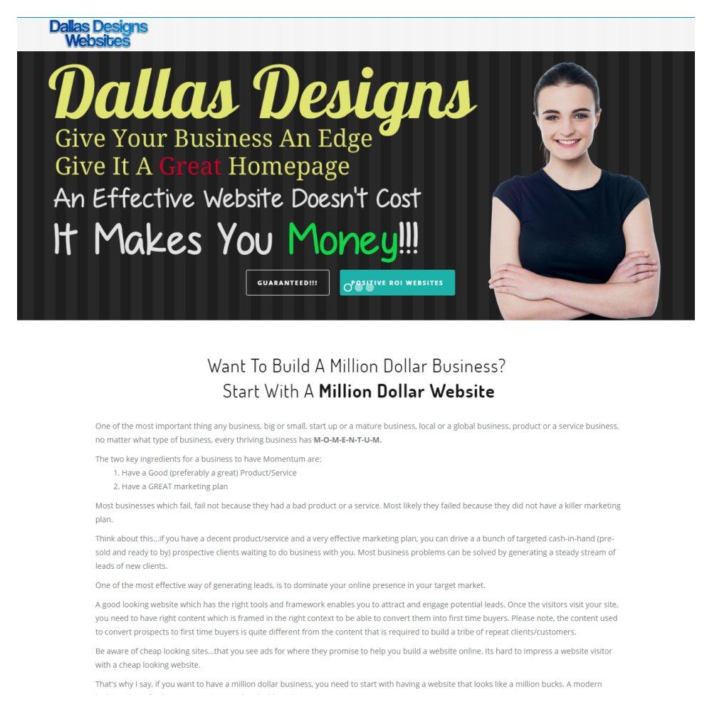 Web Design Plano - Dallas Designs Websites - Plano Frisco